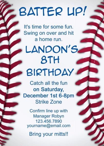 Baseball Invitation By Makeitpersonalforyou On Etsy, $9 75