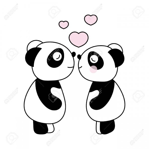 Children's Illustration With Panda  Best Choice For Cards