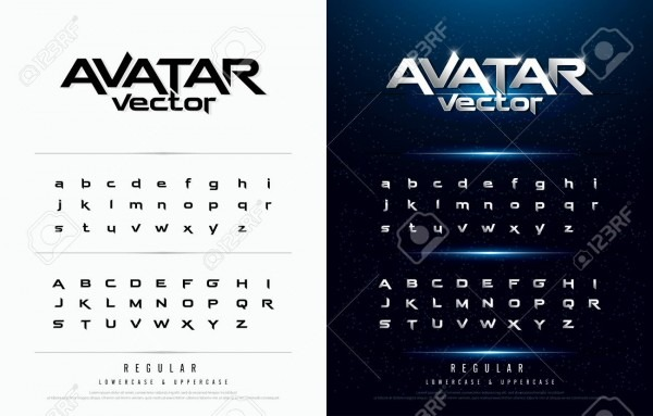 Technology Alphabet Silver Metallic And Effect Designs For Logo