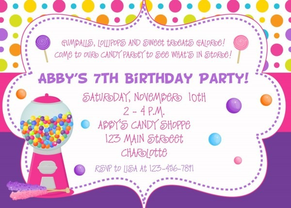 Nice Create Easy Birthday Party Invitation Designs