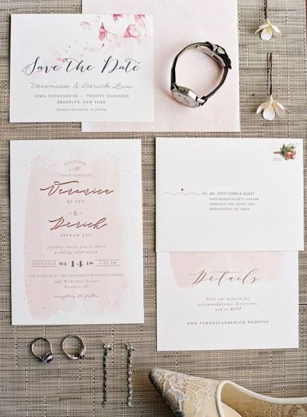 Wedding Invitations By Minted For Brooklyn Botanic Garden Weddng
