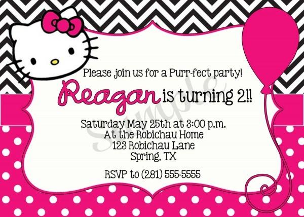 Free Free Template Hello Kitty Birthday Party Invitations