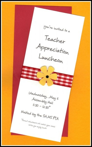 Teacher Appreciation Invitation Wording