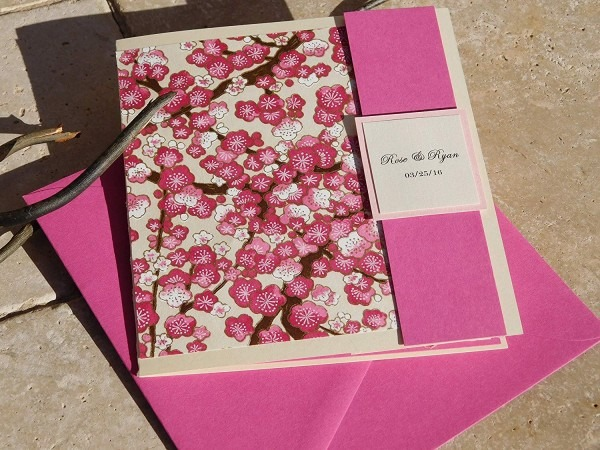 Amazon Com  Beautifully Handcrafted Cherry Blossom Invites Set Of