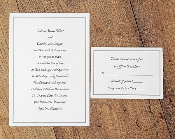 Amazon Com  Platinum Border Printable Wedding Invitations