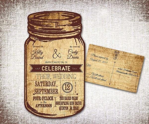 Amazon Com  Mason Jar Wedding Invitations  Rustic Wedding