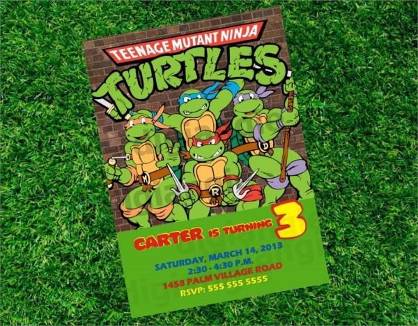 Teenage Mutant Ninja Turtles Birthday Invitations By Digiangie