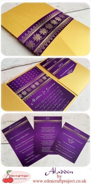 The Disney Inspired Aladdin Pocketfold Wedding Invitation  Perfect