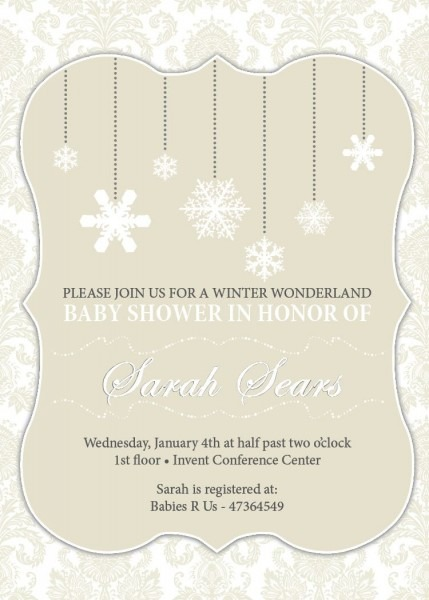 Winter Wonderland Baby Shower – Invitations