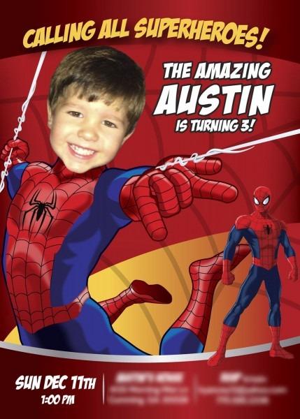 A Nice Sample! Spiderman! Spiderman Invitation, Spiderman Birthday