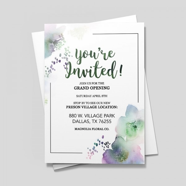 A Floral Engagement Invitations & Announcements By 123print