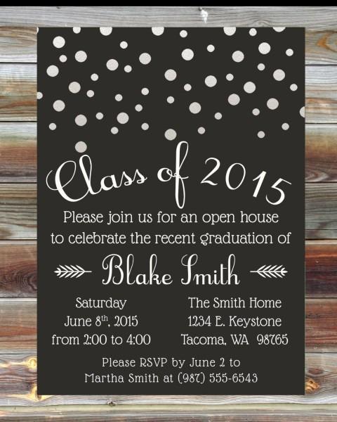 Custom Graduation Party Invitation