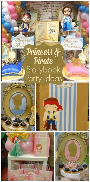 Storybook Inspired Party   Birthday  Princess & Pirate Party