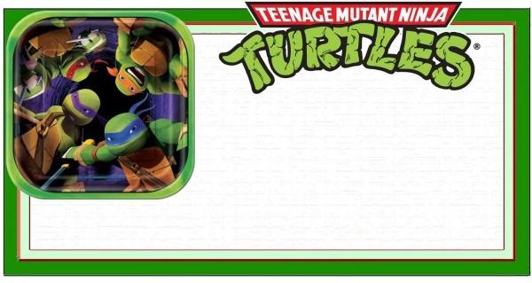 Ninja Turtle Invitation Template