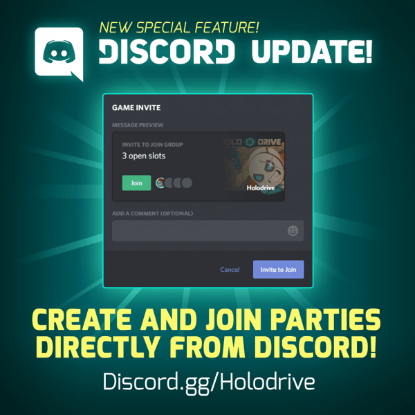 Holodrive    New Update! Discord Party Invite, Controller Support