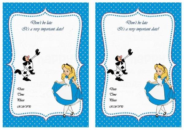 Acbeefbfbbca Great Free Alice In Wonderland Invitation Template