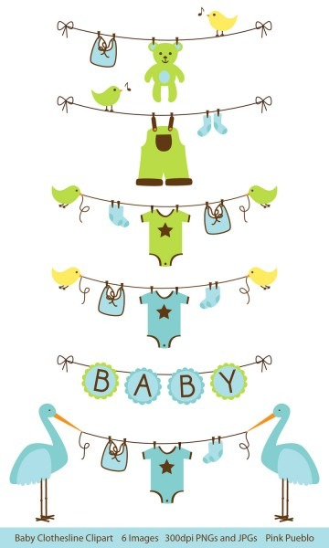 Baby Shower Invitation  Free Baby Shower Clipart For Invitations