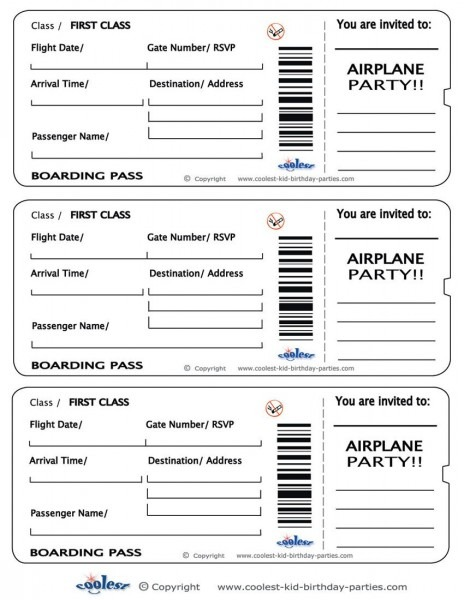 Acfdafdcafff Valid Templates Of Airline Ticket Invitation Template