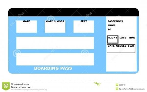 Airline Ticket Stock Illustration  Illustration Of Passenger