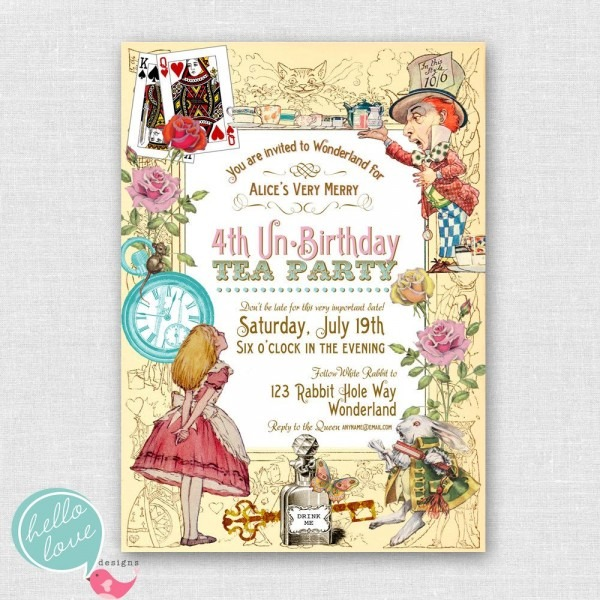 Alice In Wonderland Birthday Invitations From I And Get Inspired