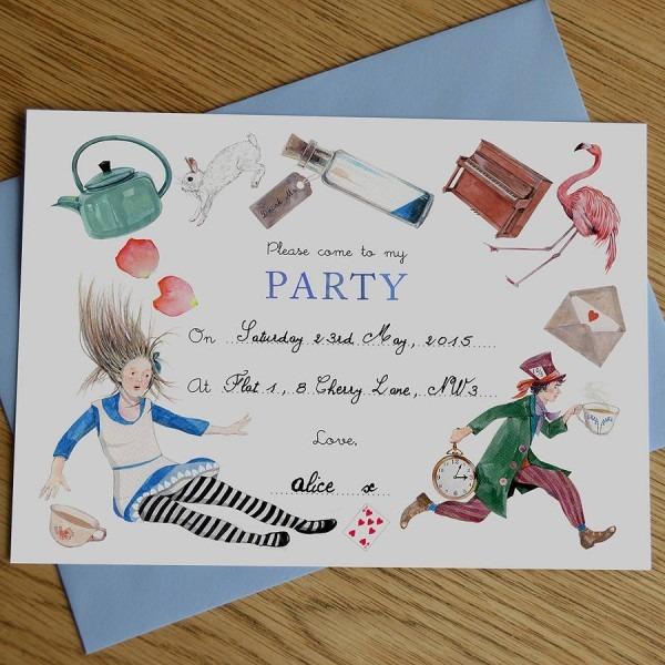 Alice In Wonderland Party Invitations Alice In Wonderland Party