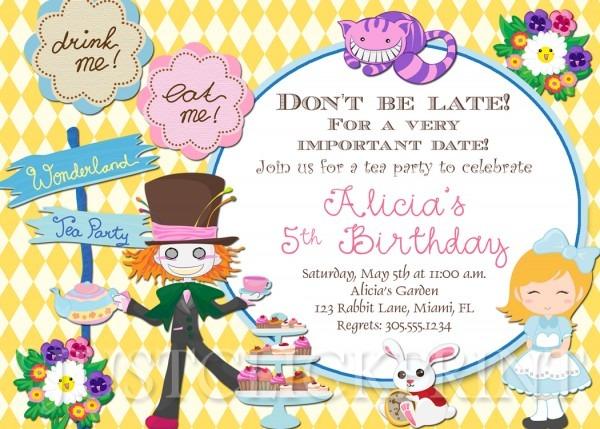 Alicewonderland Original Fresh Alice In Wonderland Birthday