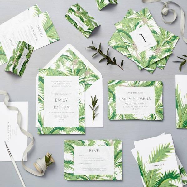 Elegant Tropical Wedding Invitations Tropical Wedding Invitations