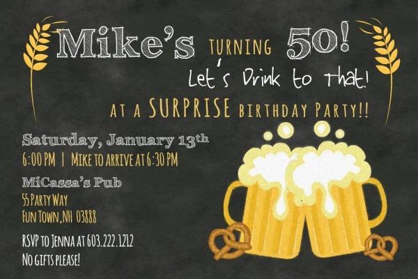 Funny 50th Birthday Invitations For Men