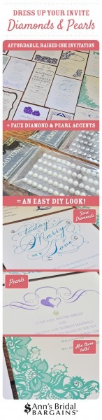 Dress Up Your Wedding Invite  Diamonds And Pearls