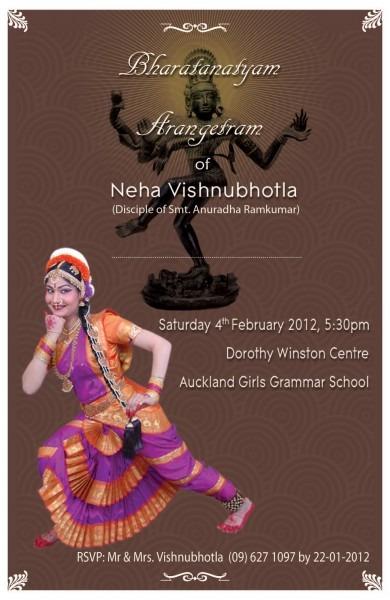 Our Daughter's Bharatanatyam Arangetram
