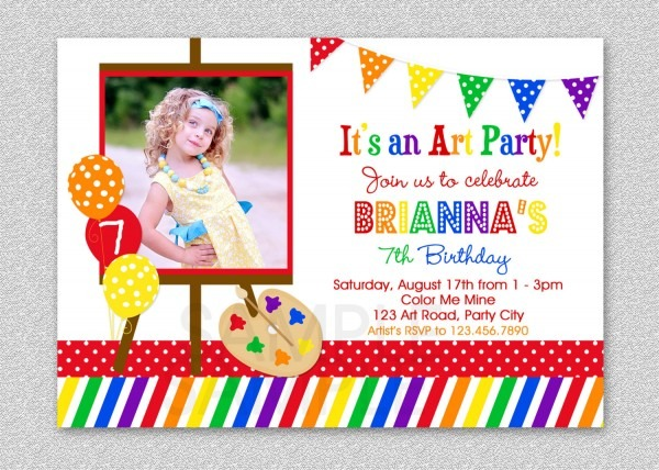 Art Party Invitations Art Party Invitations And Your New Party
