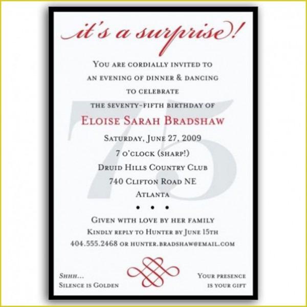 Attractive Surprise Birthday Invitation Wording To Make Birthday