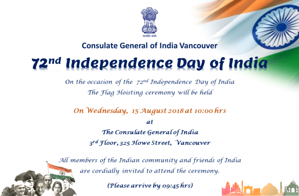 Welcome To Consulate General Of India, Vancouver, Bc, Canada