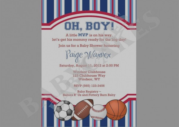 Awesome Basketball Themed Baby Shower Invitations Sports Theme