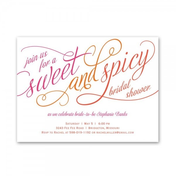 Awesome Wedding Shower Invitations Sweet And Spicy Petite Bridal