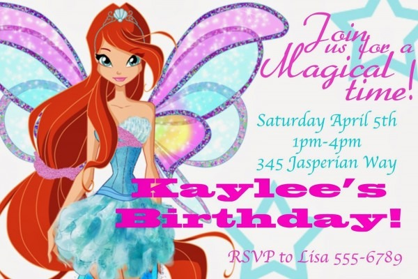 Winx Birthday Party Invites!