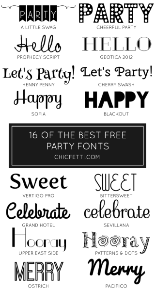 16 Of The Best Free Party Fonts