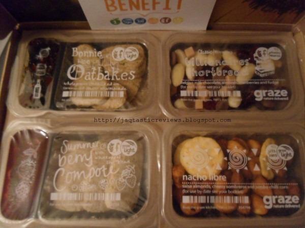 Graze Nibbler Box 2 Contents  Bonnie Wee Oatcakes, Billionaires