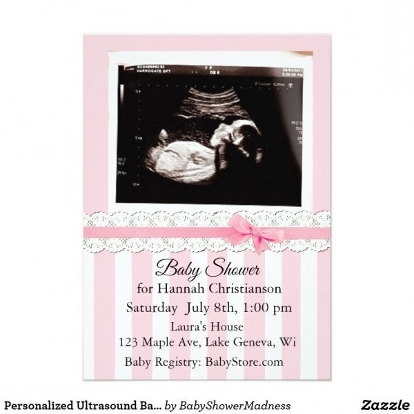 Personalized Ultrasound Baby Shower Invitations
