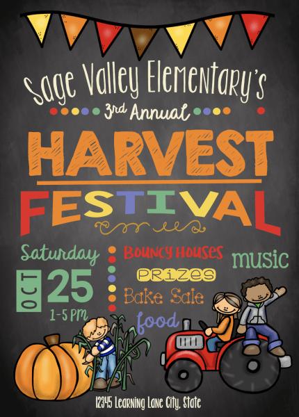 Adorable Harvest Festival Invitation