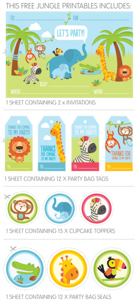 Free Jungle Party Invitation Printables