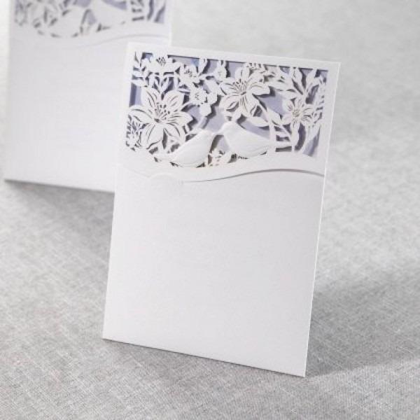B Wedding Invitations Luxury Lasercut Pocket With Love Birds By B