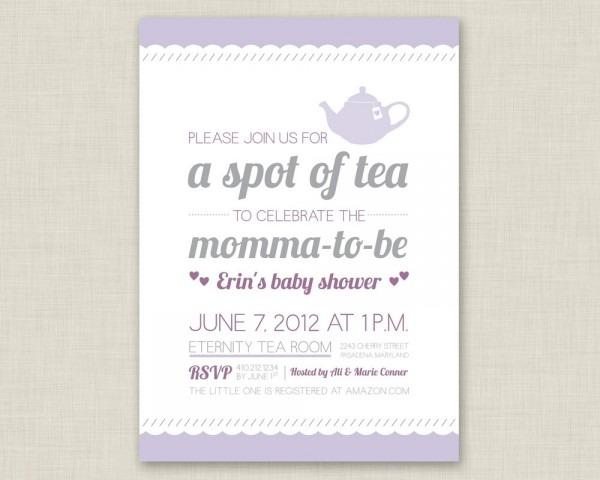 Baby Shower Afternoon Tea Invitation Wording • Baby Showers Design