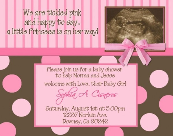 Baby Shower Invitations With Ultrasound Photo