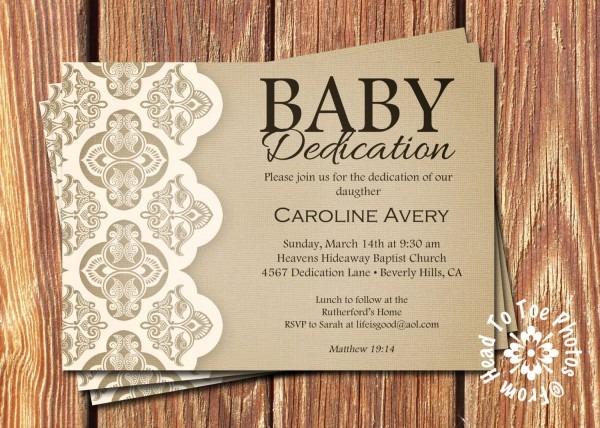 Invitation Message For Child Dedication Premium Invitation