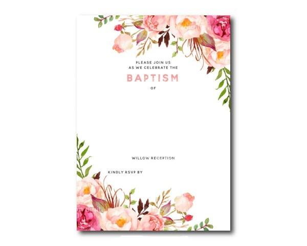 Free Baptism Invitation Templates Printable Download Templates