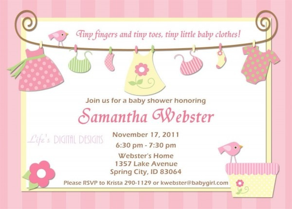 Baby Shower  Baby Shower Invitations Templates  Diaper Invitations