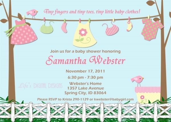 Baby Shower Invitations For Girls Free Unique Shower Doors