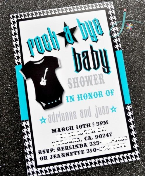 Rockstar Baby Shower Invitations