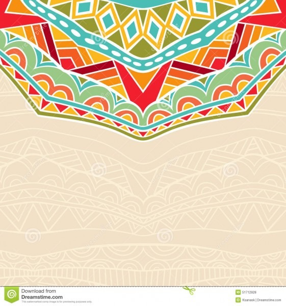 Background With African Ornament Stock Vector